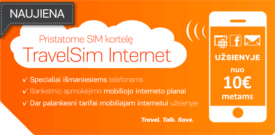 Travelsim internet LT